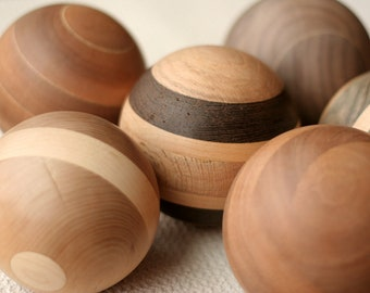 """Solid Wood Ball - 4"""" Diameter and Perfect for Home Decor - Reclaimed Woods"""