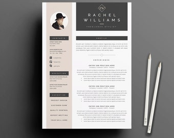 4 Page Resume / CV Template + Cover Letter For MS Word | Instant Digital  Download