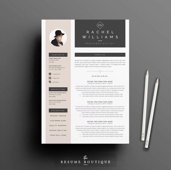 4 Seite Lebenslauf / CV Vorlage Anschreiben für MS Word