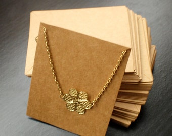 Large necklace display card - jewelry packaging