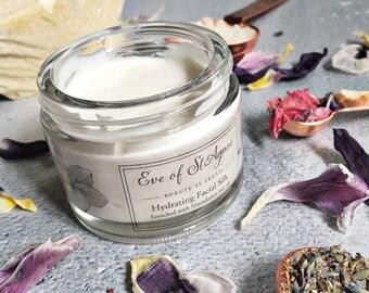 Natural face cream - dry skin, facial cream, dry skin moisturizer, natural skincare, anti aging cream, wrinkle cream, vegan, paraben free