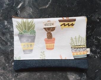 Prickly Cactus Zipper Pouch / Pencilcase