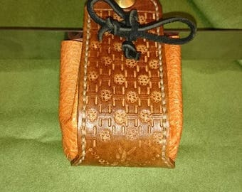 Hand made genuine leather wallet.