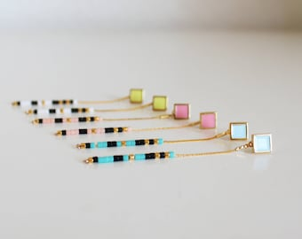 Long earrings, minimalist, boho,