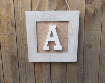 """Initial """"A"""" Wall Plaque"""