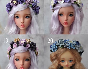 Flower headband bjd - Purple Collection - Free size MSD - SD - 70+