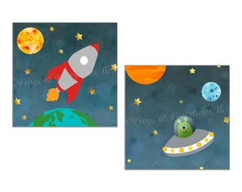 Outer Space Canvas Wall Art Prints