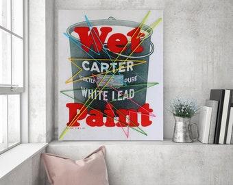 Art Print: Wet Paint String Art