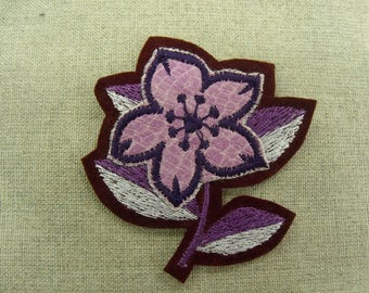 patch Thermo - pink and Burgundy flower