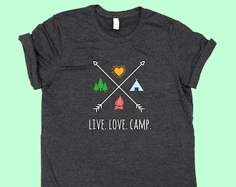 Live. Love. Camp. X - Unisex Jersey Camping SHIRT