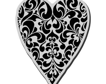 Stampendous!  Cling Stamp Ornate Heart, Valentines, Wedding, Anniversary
