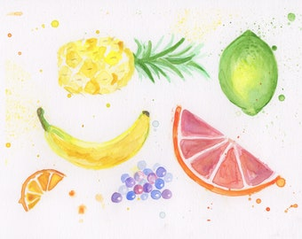 Fruit Watercolor Painting