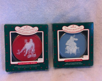 Norman Rockwell Cameo Ornaments