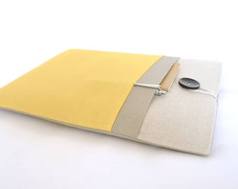 Custom Padded Surface Laptop Cover, Surface Book 2 Case, Surface Pro 5 Case Microsoft Surface Pro Tablet Sleeve - Natural and Sunflower