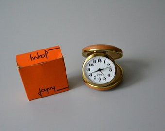 Mechanical alarm clock JAPY / french Vintage Travel Clock