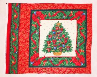 Christmas Tree 1 By VIP 45cm X 55cm Panel Block Xmas Santa