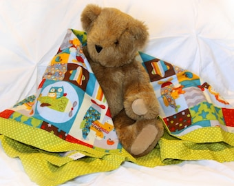 Airplane Baby Blanket, Super Soft Receiving Blanket, Fun Print, Baby Boy blanket, Nursery Blanket, soft flannel, READY TO SHIP, Baby Shower