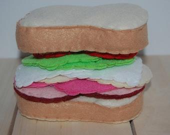 Felt Sandwich, Felt Food, Pretend Play, Pretend Kitchen Set, Felt Play Food, Kids Toys, Play Kitchen Set, Gift for Kids, Felt Food Set