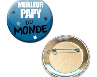 Badge 56 mm - best Grandpa in the world family Grandpa parent child gift