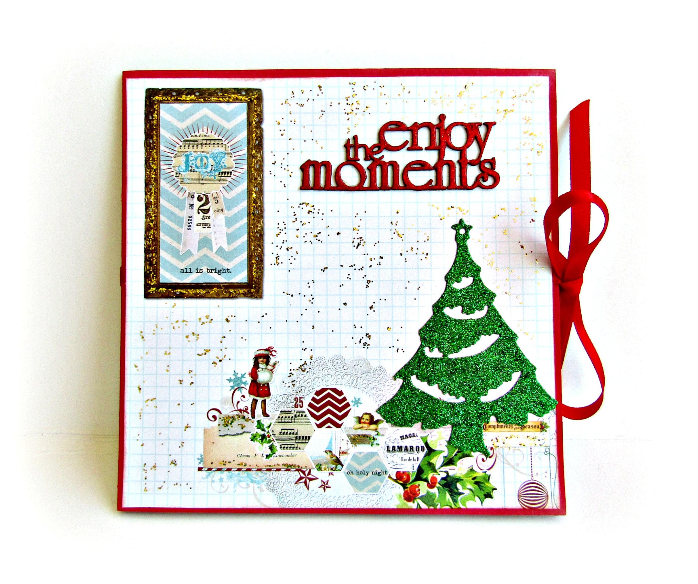 Christmas mini album Premade pages album Accordion mini
