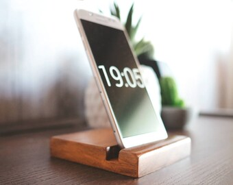 Phone stand - iPhone stand Cell phone stand Phone holder Wooden phone stand  Ipad stand Phone dock Mens gift For him tablet stand Australia