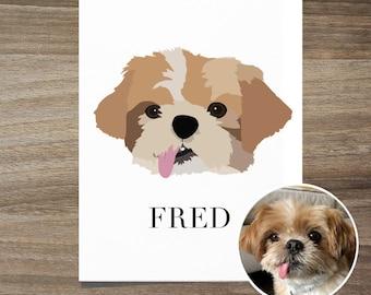 Custom Pet Portrait, Custom Portrait, Custom dog portrait, Dog Dad Gift, Custom Dog Art, Pet Portrait, Cute Dog Portrait, Dog Anniversary