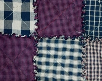 Rag Quilt - Homespun Comfort - Ready to Ship