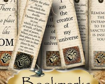 FAE•2x7 Affirmation BOOKMARKS•Yoga Bookmark•DIY•Printable Digital Images•Gift Tags•Yoga tag•Meditation•Printable Bookmark
