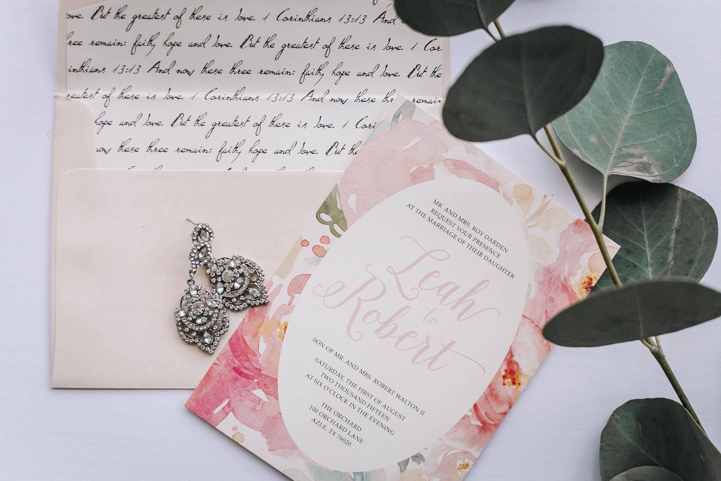5x7 Pink Watercolor Floral Wedding Invitation Suite with Details ...