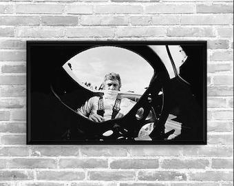 STEVE MCQUEEN Mans - Garage workshop Limited Edition - Vintage poster