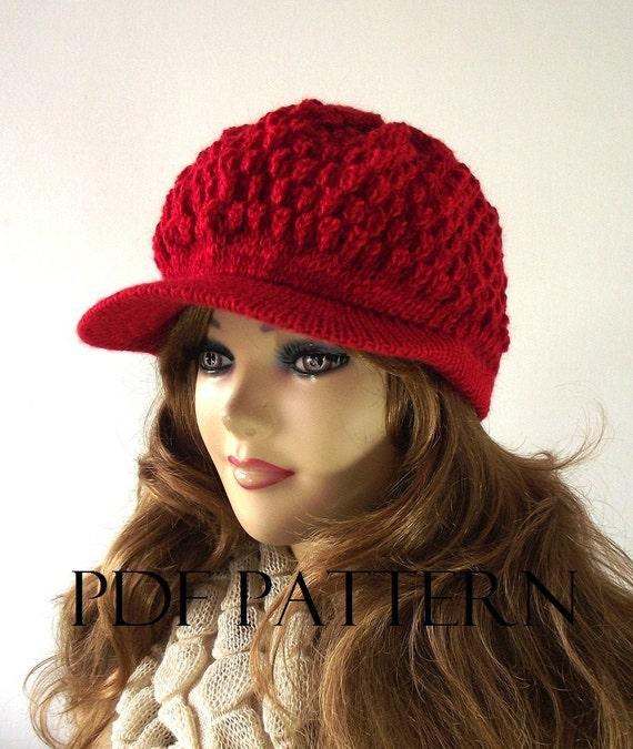 Knit Newsboy Hat Pattern Free Box
