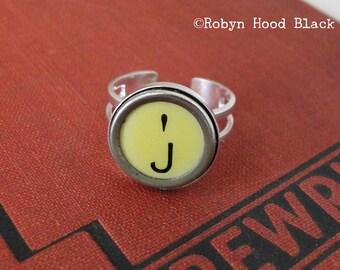 Schreibmaschine Schlüssel Jahrgang gelben Buchstaben J Ring
