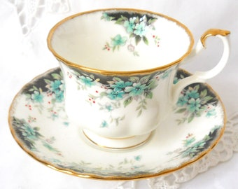 Royal Albert Badminton teacup vintage tea cup english teacups vintage floral teacup 90