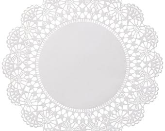 "200-6"" White Cambridge Paper Lace Doilies Wedding Shower Party Decor Gift Wrap"