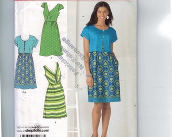 Misses Sewing Pattern Simplicity 2177 Women's Dress and Cropped Jacket Size 14  16 18 20 22 Bust 36 38 40 42 44 UNCUT