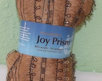 Joy Prism Ruffle Scarf yarn #105, Ladder Edge, Plymouth Yarns, Make a Beautiful Ruffle Scarf with just one Skein, Gold Scarf, Gold Yarn