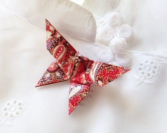 Origami Butterfly Pin (paisley)