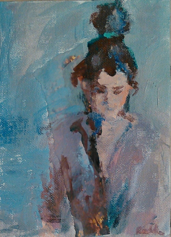 Contemplation in Blue