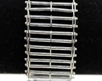 Milor Sterling Silver Italy Modernist Bracelet