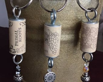 Upcycled Wine Cork Keychains