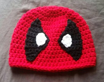 Pattern Only * Crochet Deadpool Beanie