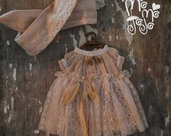 Shabby Chic Dress/Outfit with Hair Band for Blythe/Pullips Dress/ Licca/ Azone A72