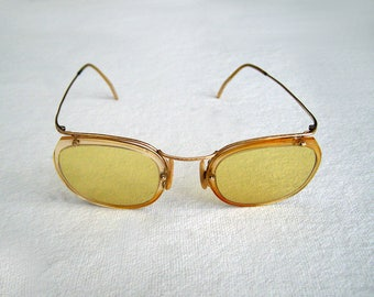 1920s  rounded form sunglasses with new yellow anti-fog lenses