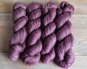 Shinku | Hand Dyed Lace Weight Yarn 800m/100g Extra Fine Merino, Silk & Yak