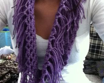 Fringe infinity fashion scarf