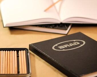 "Personalized Sketchbooks 8.5""x11"" - Brad Design"
