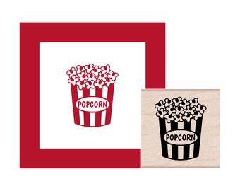 Popcorn Rubber Stamp