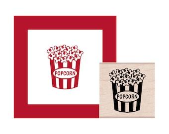 Popcorn Rubber Stamp