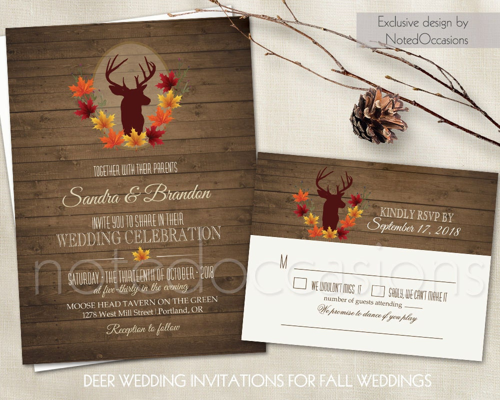 zoom - Rustic Fall Wedding Invitations