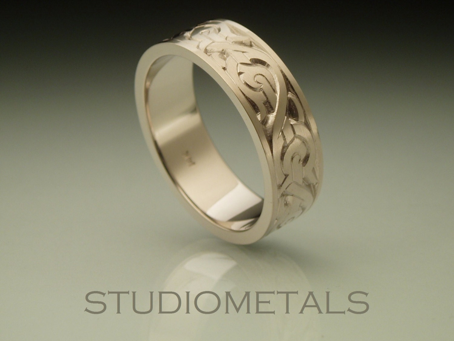 Mens Nordic Wedding Band Mens Wedding Ring Cool Mens Ring